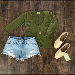 Olive Green Crop Top size O/S